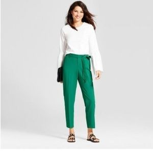 A New Day NWOT Green Ankle Pants  Size M